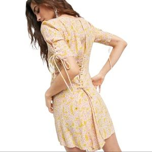 Free People New With Tags Floral Mini Dress Sz XS